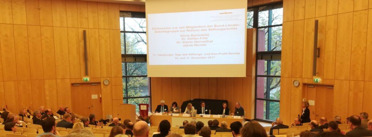 Stiftungsrechtsreform Hamburger Tage Bucerius Law School