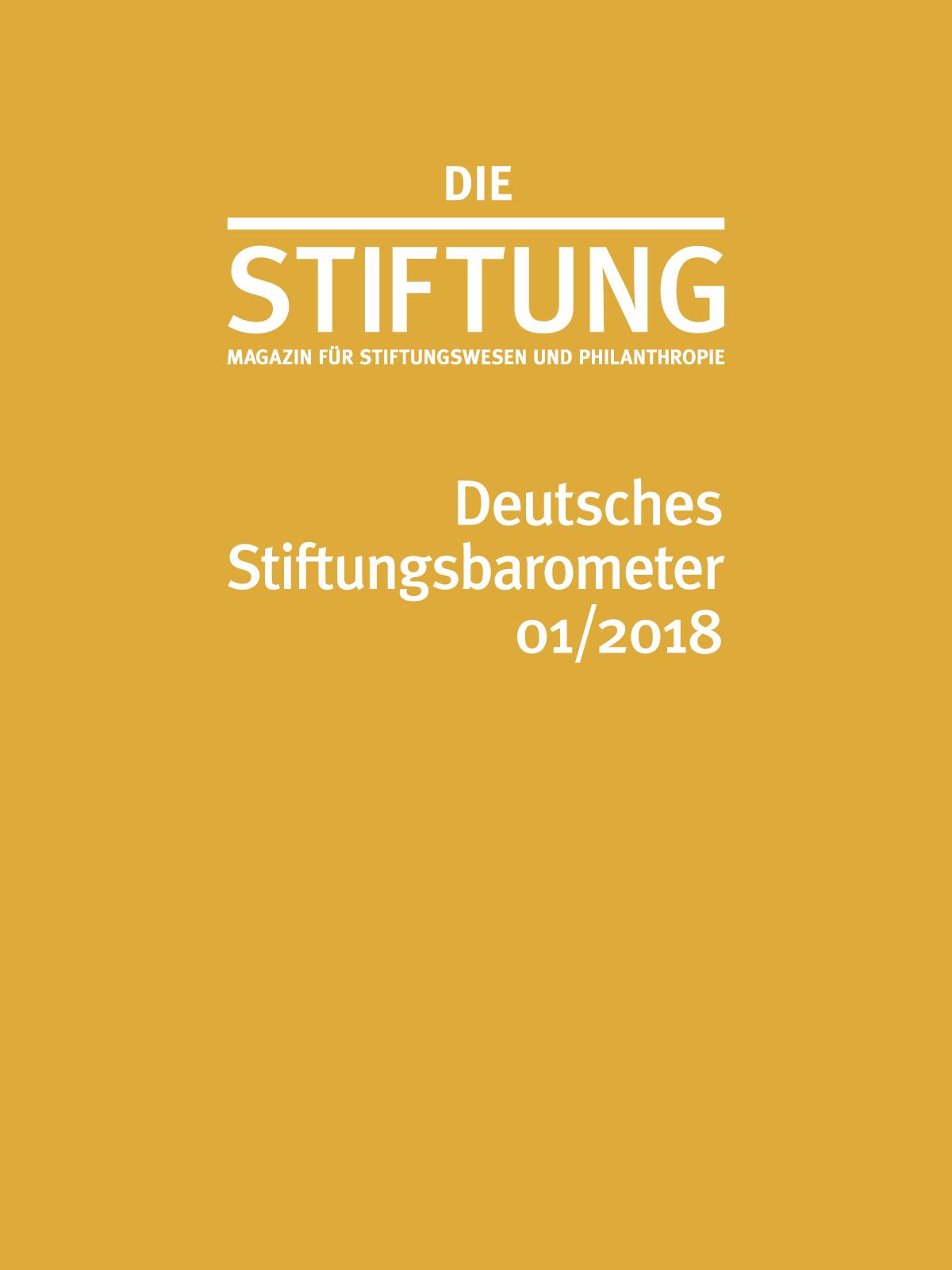 Deutsches Stiftungsbarometer 01/2018