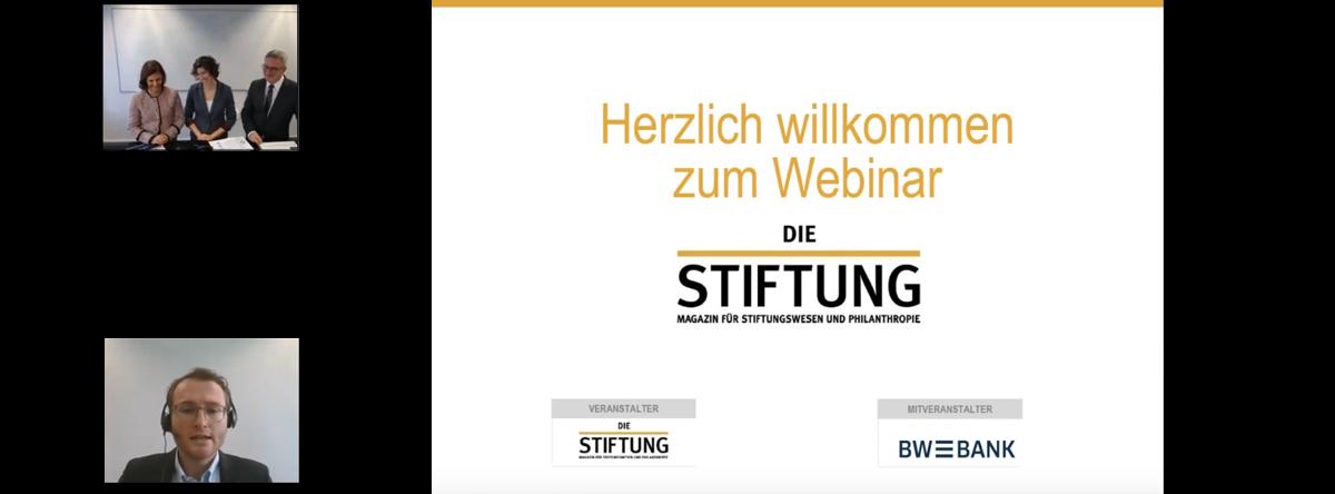 Webinar Stiftungsziele sichern Die Stiftung BW-Bank