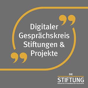 Digitaler-Gespraechskreis-Stiftungen&Projekte-Keyvisual+Logo_web_300x300px