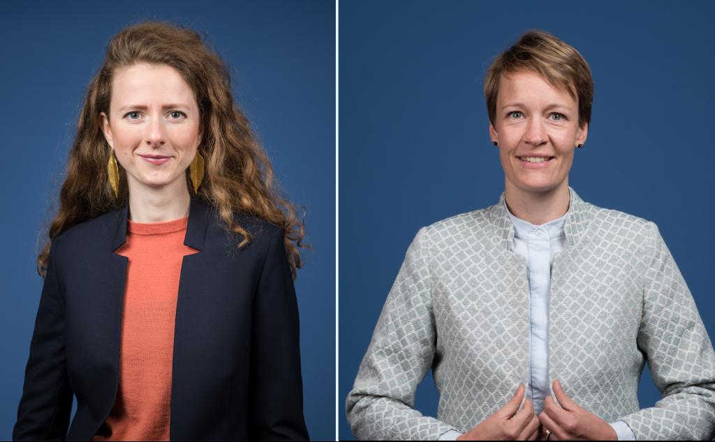 Die Politikwissenschaftlerin Luisa Seiler (links) übernimmt die Position von Anne Rolvering, die acht Jahre lang Geschäftsführerin war. Foto: Schwarzkopf-Stiftung Junges Europa