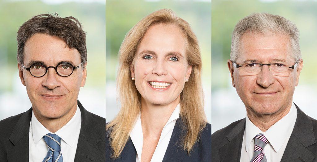 Die Else Kröner-Fresenius-Stiftung verkündet mehrere Personalien: Michael Madeja ist neuer Vorstandsvorsitzender und Tanja Dangmann folgt auf Rudolf Herfurth (v.l.).