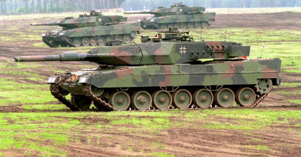 Kampfpanzer Leopard 2 der Bundeswehr