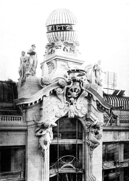 Berliner Kaufhaus mit Tietz-Globus