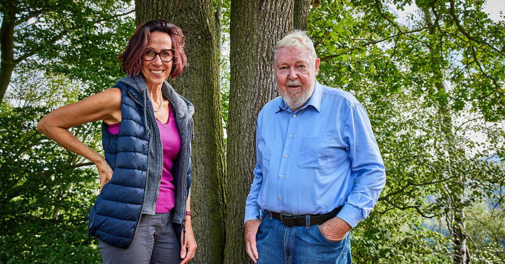 Michael Succow mit Tochter Kathrin Succow. Succow-Stiftung