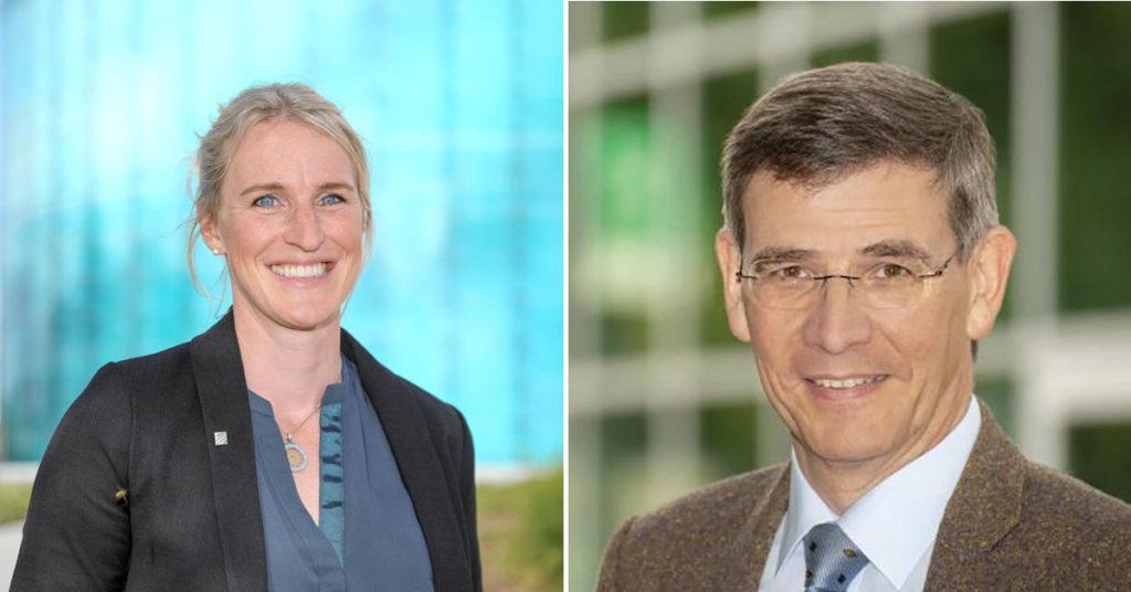 Das neue Vorstandsduo der Daimler-und-Benz-Stiftung in Ladenburg: Julia Arlinghaus und Lutz Gade.