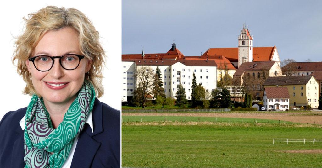Andrea Thiele stößt zum 1. Oktober zum Vorstand der St.-Elisabeth-Stiftung hinzu, die von Franziskanerinnen des Klosters Reute (rechts) gegründet wurde.