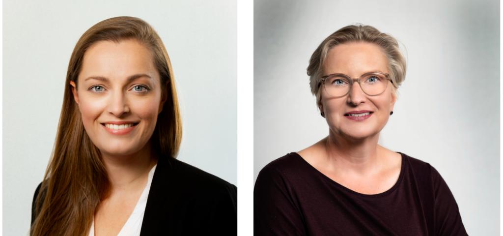 Anna-Lena Kentrath (links) und Dr. Kerstin Bartels (rechts) von der HUK Coburg verstärken das Kuratorium der Deutschen Stiftung Verbraucherschutz.