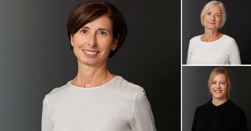 Patrizia Rezzoli (links) war fast acht Jahre Geschäftsführerin der Beisheim-Stiftung Schweiz. Vorläufig folgen auf sie Mariana Noteboom (rechts oben) und Thérèse Flückiger.