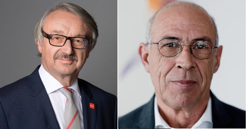 Martin Rennert (rechts) folgt auf Günter Stock, der den Vorstandsvorsitz niedergelegt hat.