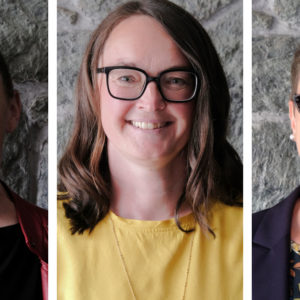 Angelika Hipp (links) und Katrin Öhler (Mitte) sind neu im Vorstand der Caritas-Stiftung. Birgit Strohbach (rechts) gehört dem Gremium bereits seit Januar 2017 an.