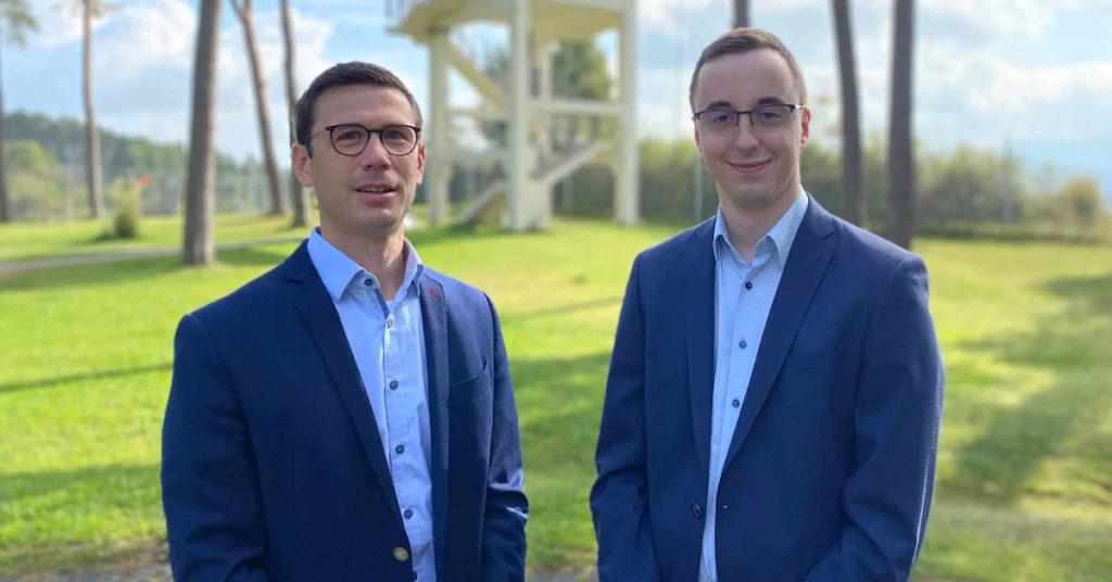 Vorstand Sebastian Leitsch (links) und sein neuer Stellvertreter Philipp Metzler